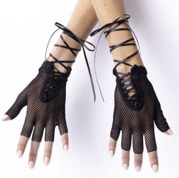 80s fingerless fishnet gloves