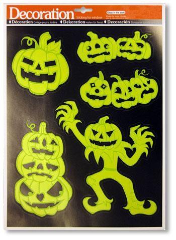 Leuchtende Kürbis Sticker