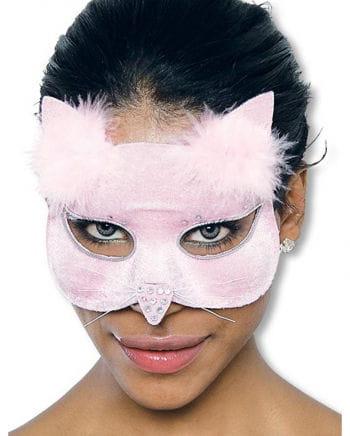 Glamour Cat Mask Pink Velvet
