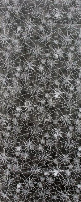 Spinnweben Dekostoff schwarz
