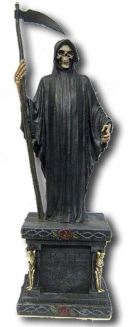 Grim Reaper on grave stone