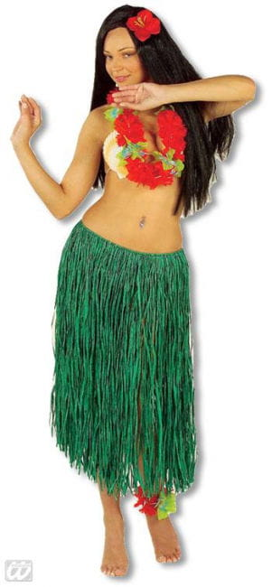 hula skirt green