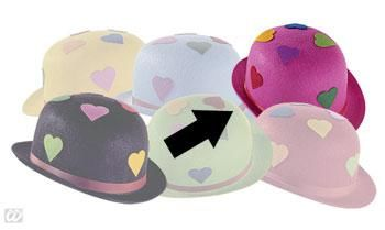 Pink Party Hat with Hearts