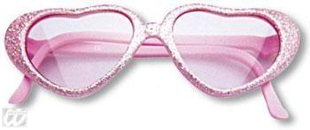 Mädchen Herz Sonnenbrille Rosa