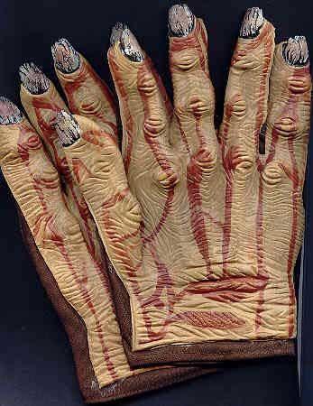 Horror Handschuhe Braun