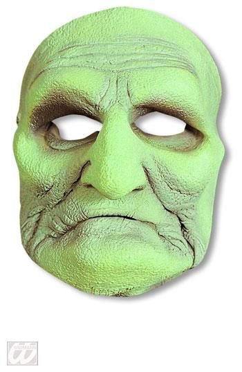 Green Swamp Witch Half Mask