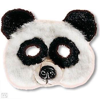 Child Mask panda bear with plush