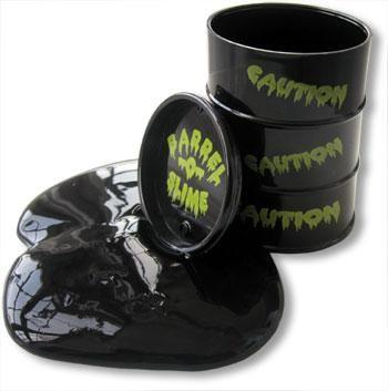 Black Oil Slick Slime in a Barrel
