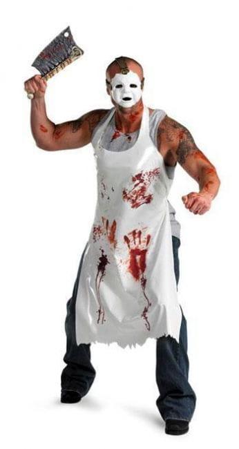 Blutiges Metzger Kostüm mit Beil