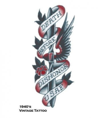 Death before Dishonor Aufklebe Tattoo