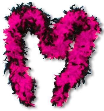 Federboa Pink Schwarz