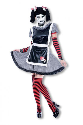 Gothic Schlenkerpuppen Kostüm M