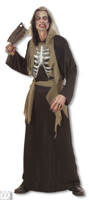 Zombie Skeleton Costume XL
