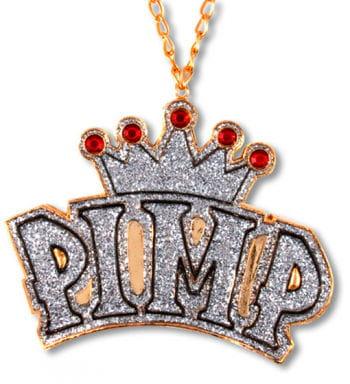 Rapper Kette mit Medalion Crown