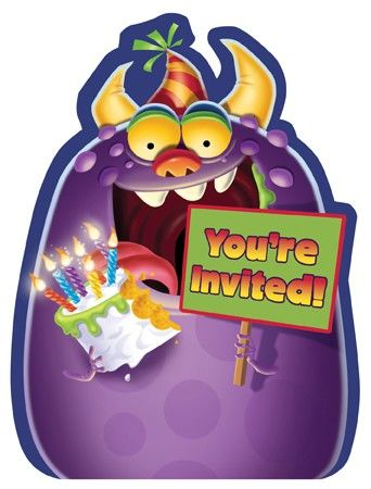 Monster Einladungskarten