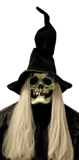 Witch Mask with Hat and Hair