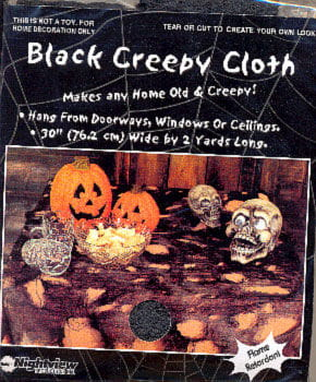 Creepy Black Table Cloth