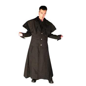 Coachmans Coat Black Cotton Size XL