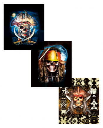 Piraten Hologramm Wandbild