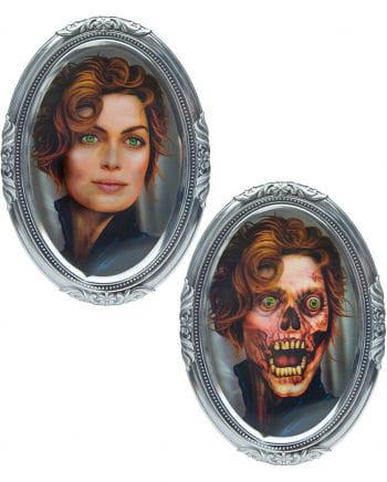 3D Wackelbild Totenkopf Frau