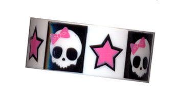 White Bracelet Cute Skull with Star