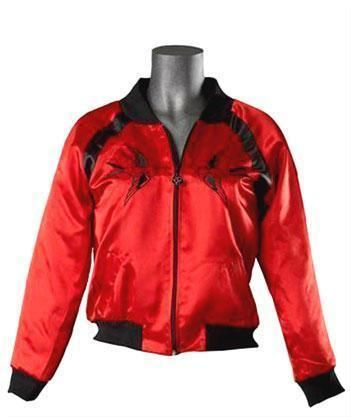 Red Satin Jacket Size S