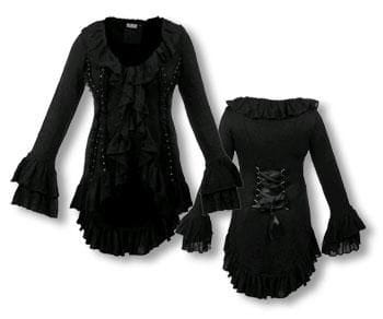 Gothic Cardigan Bolero Ruffled M