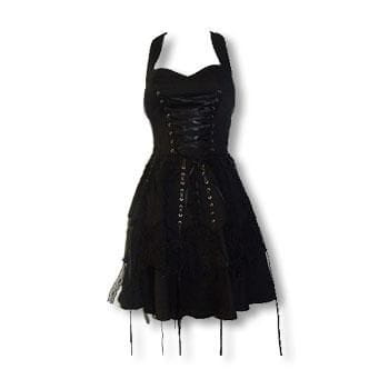 Black Gothic Lace Dress XS