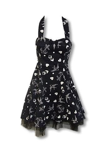 Rockabilly Tattoo Dress black M