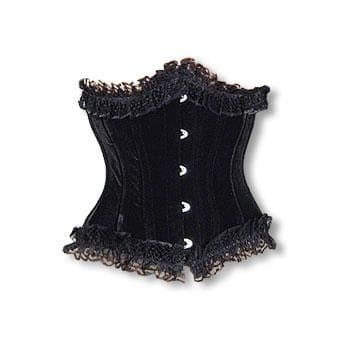 Satin Underbust Corset with Lace M