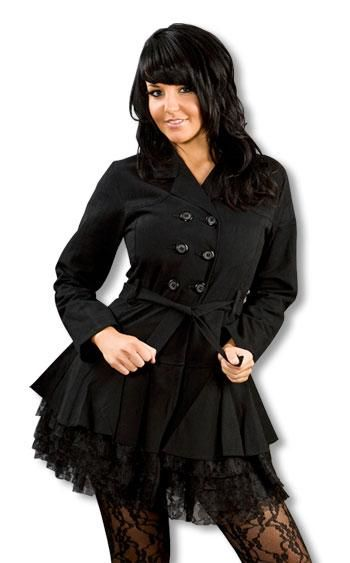 Gothic Coat with Lace M