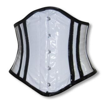PVC Corset White and Black XL