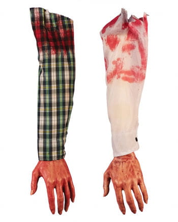 Severed bloody arm