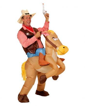 Aufblasbares Pferd Cowboy Kostüm