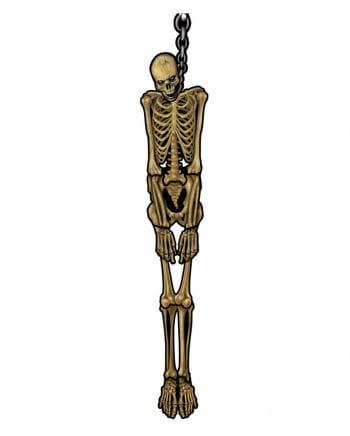 Aufgehängtes Skelett Wanddeko