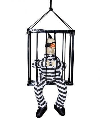 Ausbrechendes Skelett im Käfig