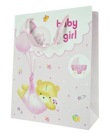 Baby Girl gift bag with bear
