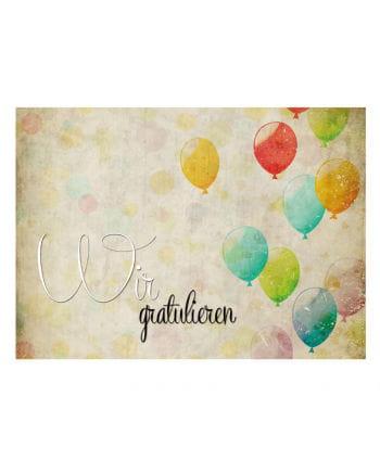 Ballon-Weitflugkarten