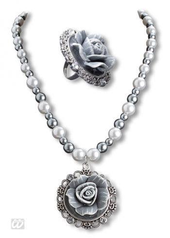 Barock Perlenkette und Ring