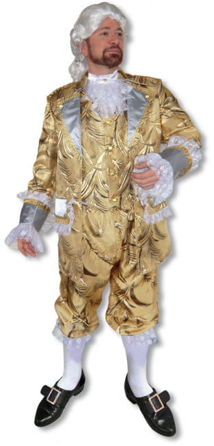 Baroque costume suit gold Deluxe