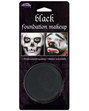 Halloween Basis Make-up schwarz