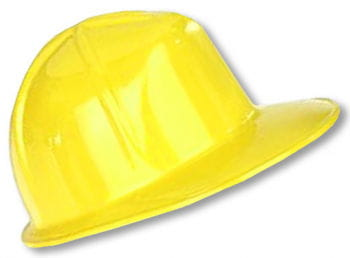 Yellow construction helmet for children