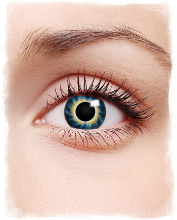 Motiv Kontaktlinsen Blau / Gelb