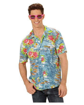 Hawaii Hemd blau XL