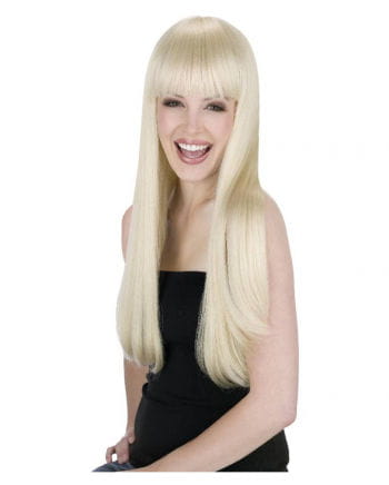Long Hair Wig With Pony Blond