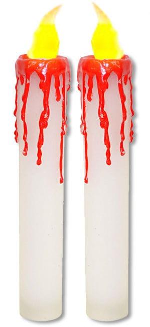 Blutige LED Kerzen weiß
