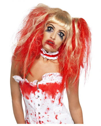 Bloody pigtail wig