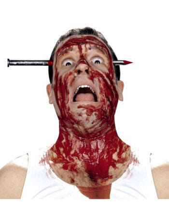 Blutiger Nagel im Kopf