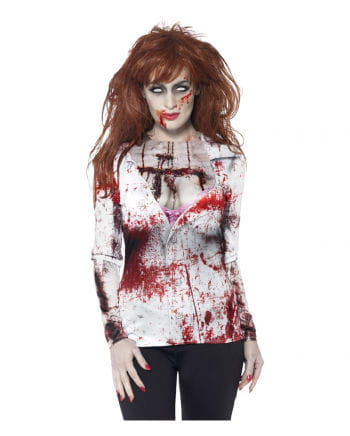 Blutiges Zombie Girl Longshirt