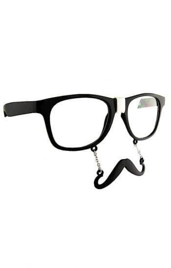 Brille mit Hipster Bart